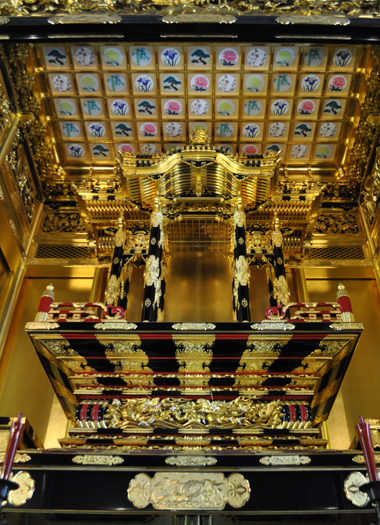 The magnificent biggest Buddhist altar